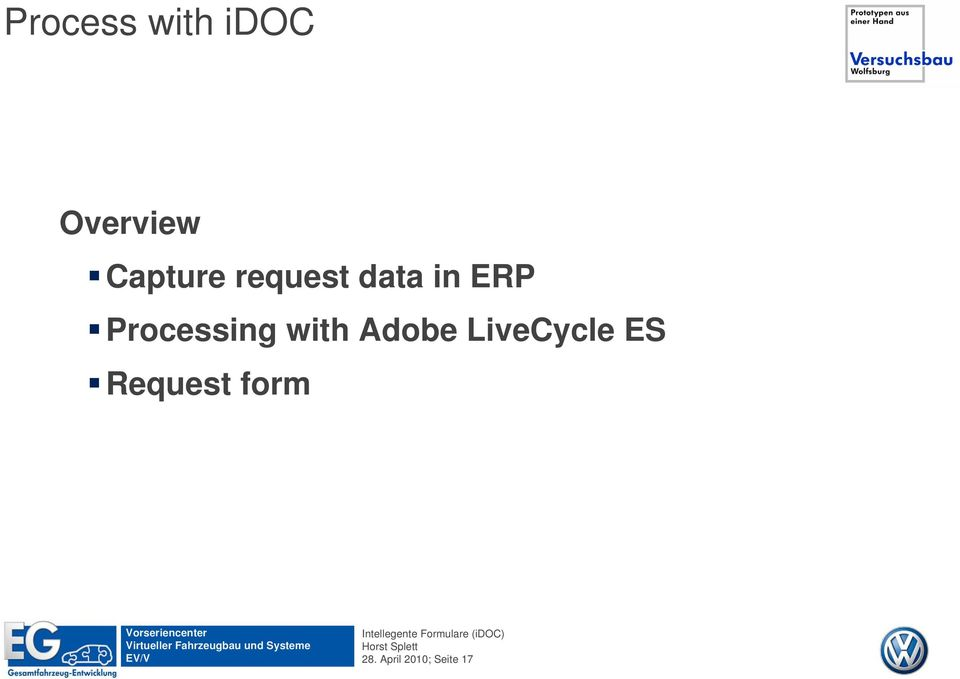 Processing with Adobe LiveCycle