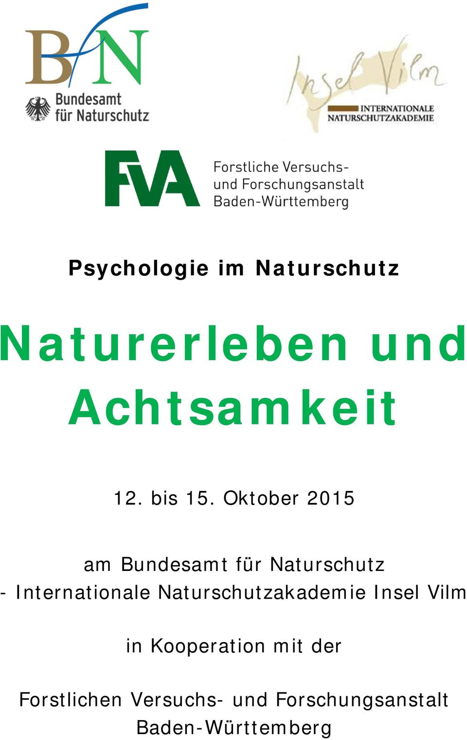 Oktober 2015 am Bundesamt für Naturschutz - Internationale