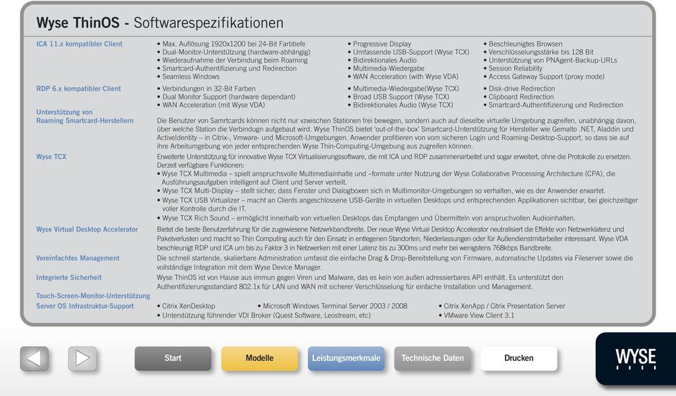 Wiederaufnahme der Verbindung beim Roaming Bidirektionales Audio Unterstützung von PNAgent-Backup-URLs Smartcard-Authentifizierung und Redirection Multimedia-Wiedergabe Session Reliability Seamless