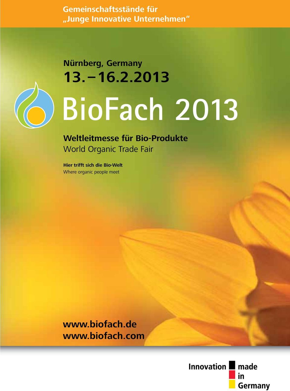 trifft sich die Bio-Welt Where organic people meet Ost ServicePartner Center S 7 7A