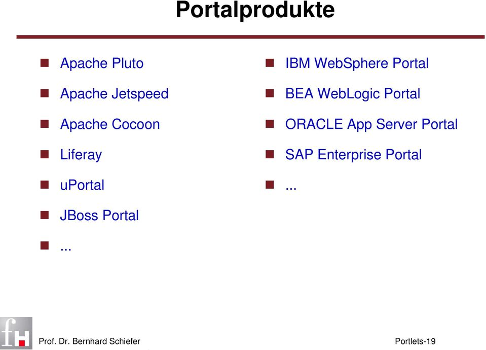 Portal BEA WebLogic Portal ORACLE App Server