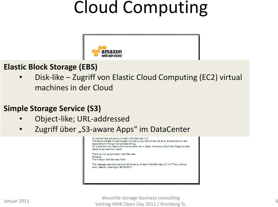 machines in der Cloud Simple Storage Service (S3)