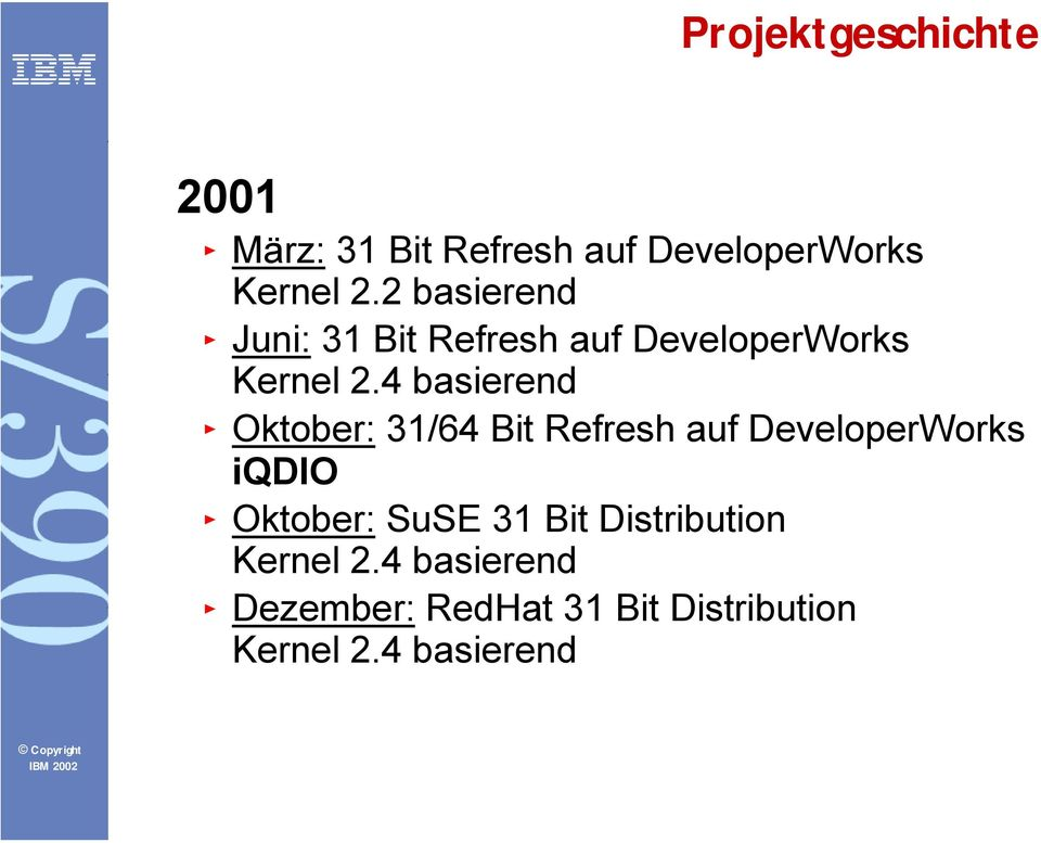 4 basierend Oktober: 31/64 Bit Refresh auf DeveloperWorks iqdio Oktober: SuSE