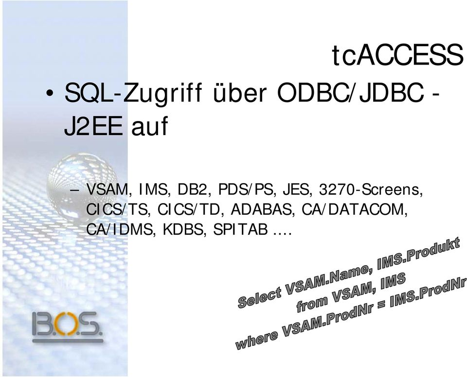 3270-Screens, CICS/TS, CICS/TD,