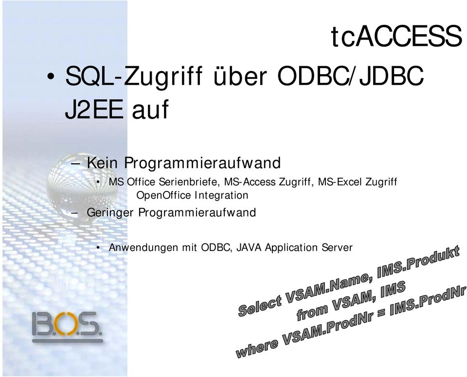 Zugriff, MS-Excel Zugriff OpenOffice Integration