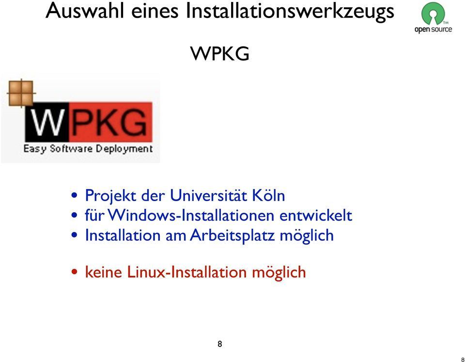 Windows-Installationen entwickelt