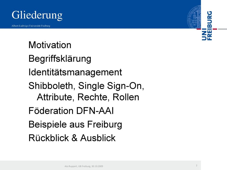 Sign-On, Attribute, Rechte, Rollen