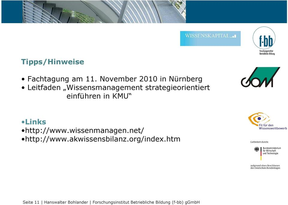 strategieorientiert einführen in KMU Links http://www.wissenmanagen.