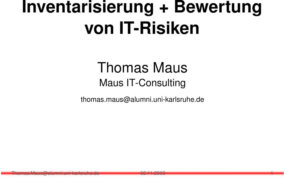 IT-Consulting thomas.maus@alumni.
