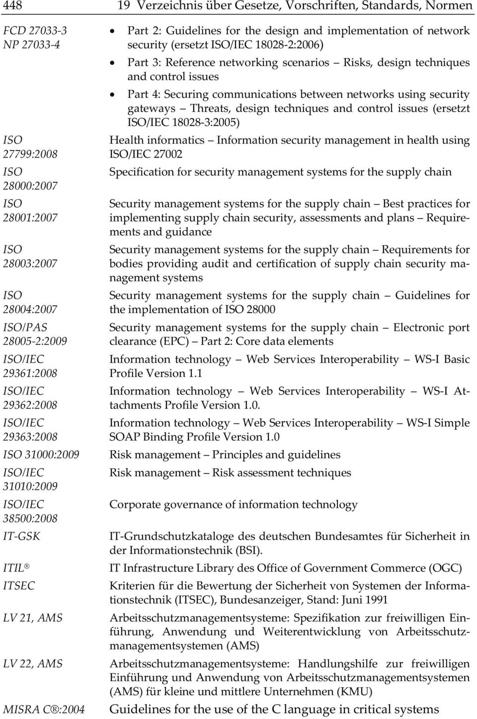 security(ersetztiso/iec180282:2006) Part3:Referencenetworkingscenarios Risks,designtechniques andcontrolissues Part4:Securingcommunicationsbetweennetworksusingsecurity gateways Threats, design