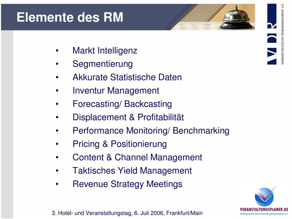 Profitabilität Performance Monitoring/ Benchmarking Pricing &
