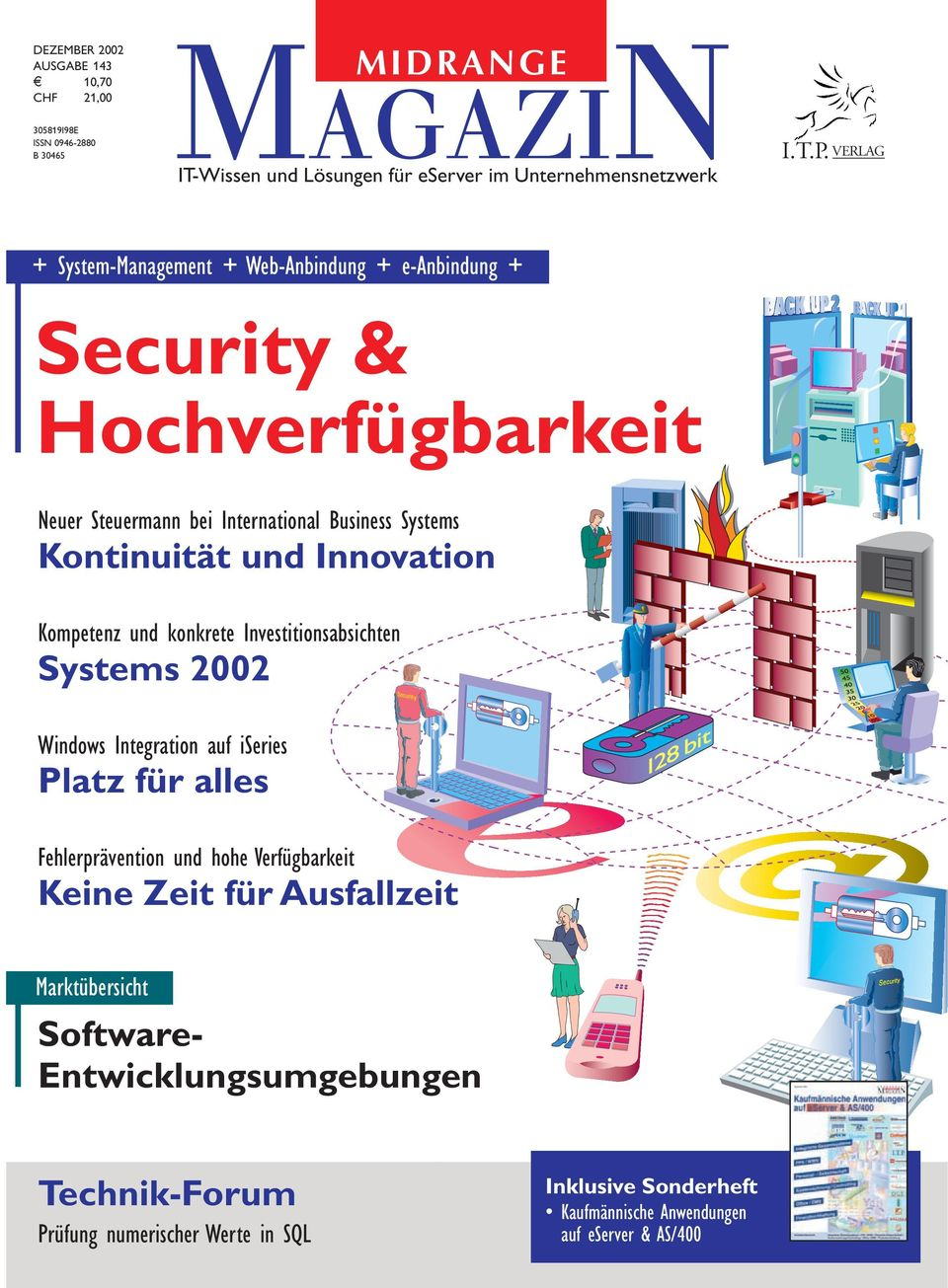 Innovation Kompetenz und konkrete Investitionsabsichten Systems 2002 Windows Integration auf iseries Platz für alles Fehlerprävention und hohe Verfügbarkeit Keine