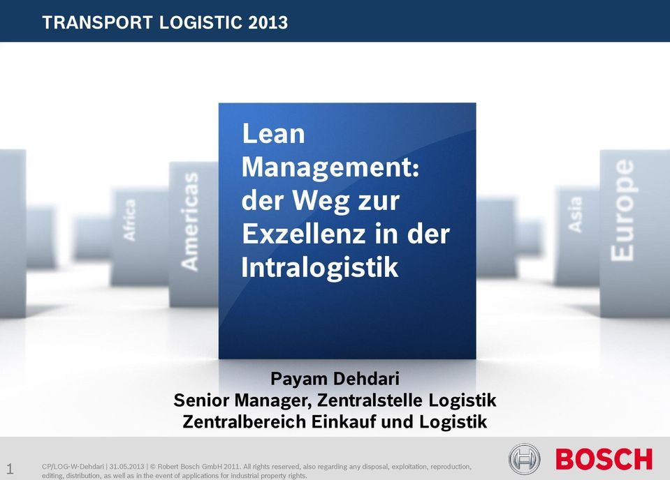Dehdari Senior Manager, Zentralstelle