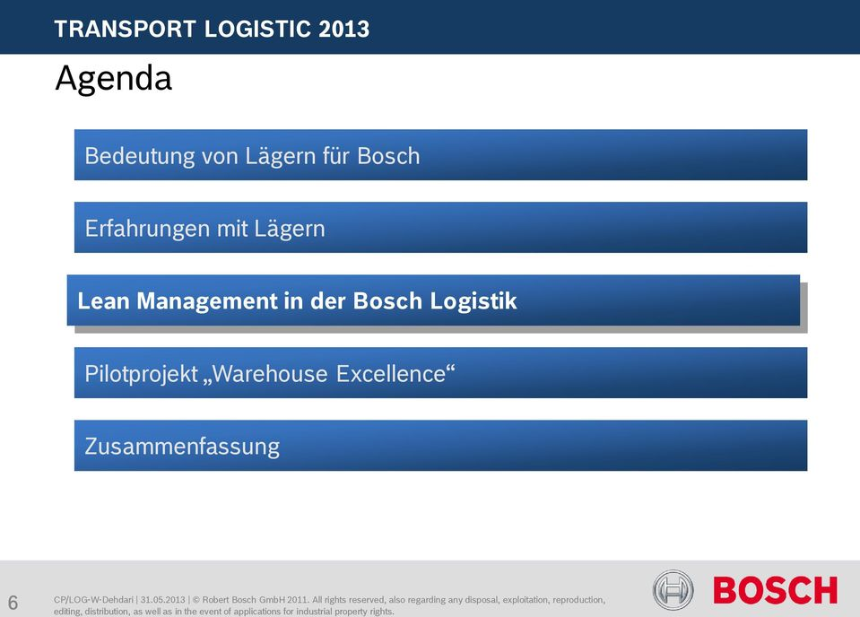 Management in der Bosch Logistik