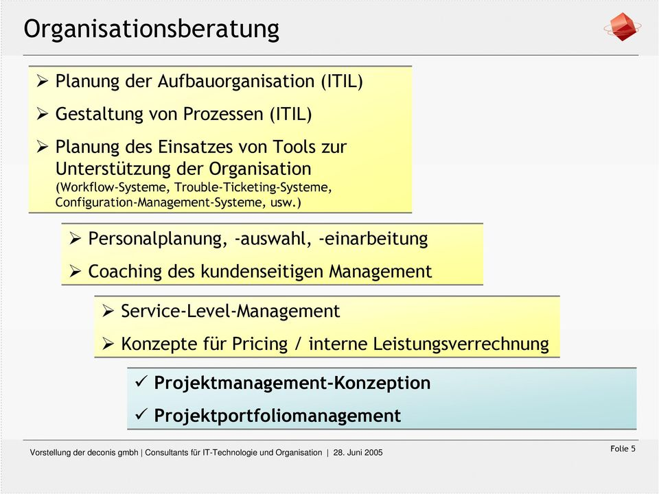 Configuration-Management-Systeme, usw.