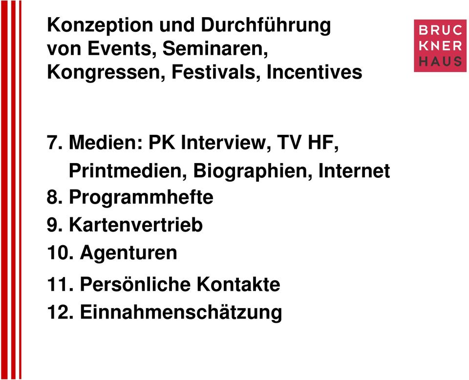 Medien: PK Interview, TV HF, Printmedien, Biographien,