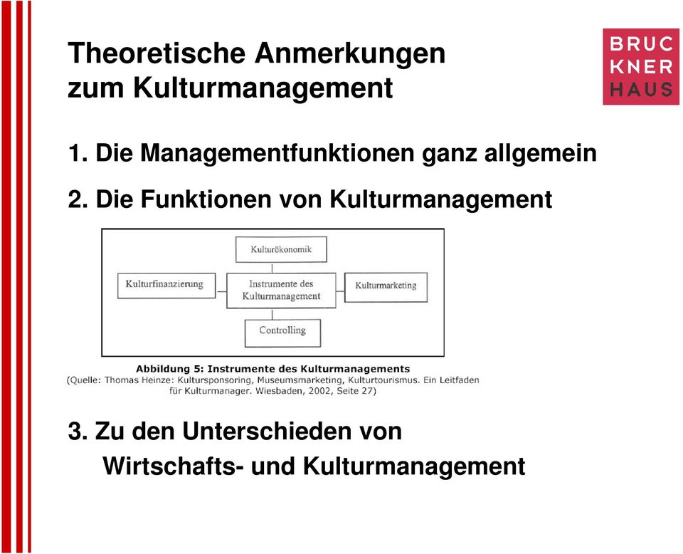 Die Funktionen von Kulturmanagement 3.