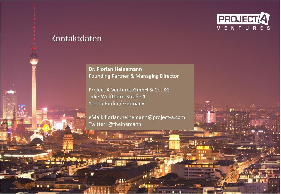 Director Project A Ventures GmbH & Co.
