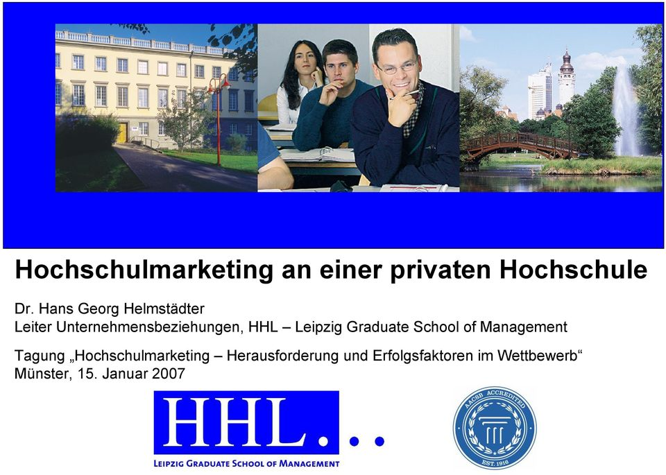 Leipzig Graduate School of Management Tagung Hochschulmarketing