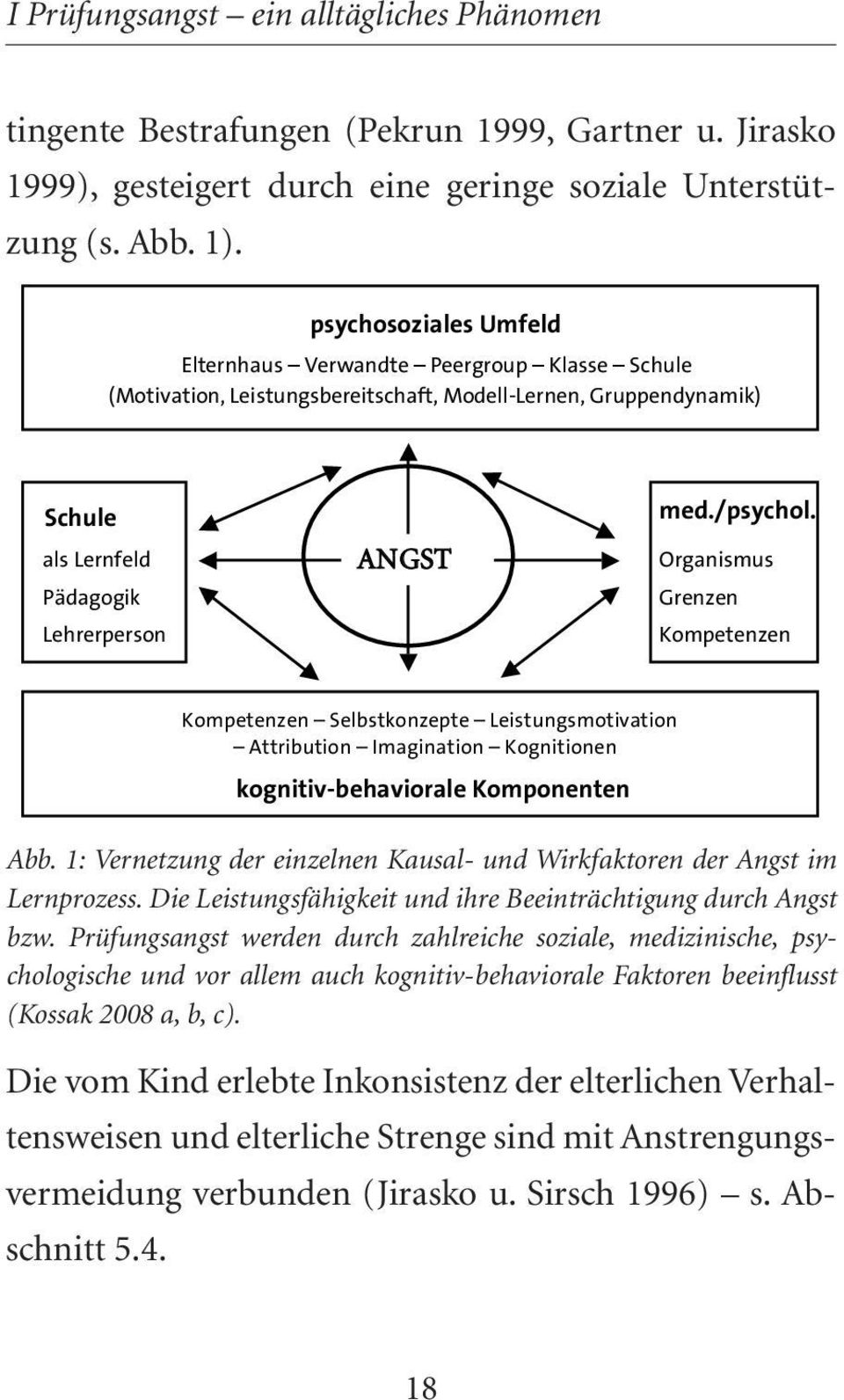 Organismus Grenzen Kompetenzen Kompetenzen Selbstkonzepte Leistungsmotivation Attribution Imagination Kognitionen kognitiv-behaviorale Komponenten Abb.