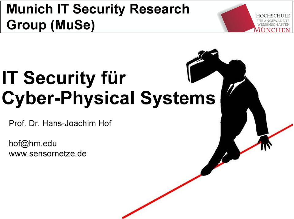Cyber-Physical Systems Prof. Dr.