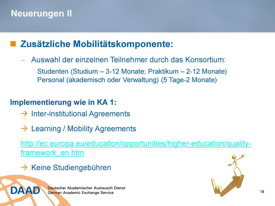 Monate) Implementierung wie in KA 1: Inter-institutional Agreements Learning / Mobility Agreements