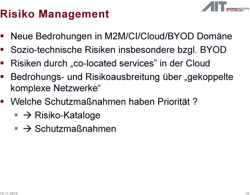 BYOD Risiken durch co-located services in der Cloud Bedrohungs- und