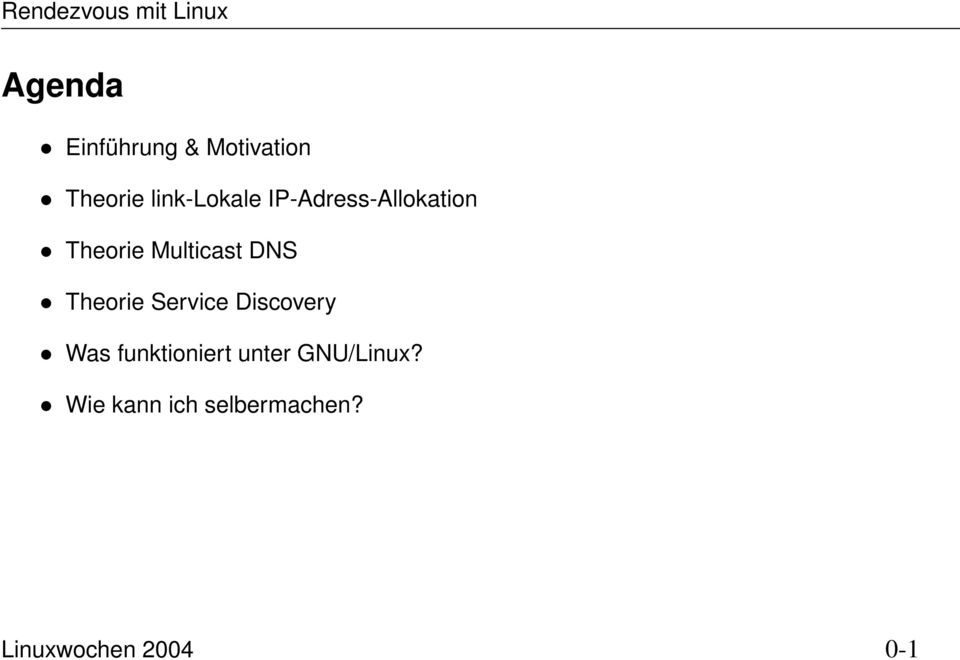 Service Discovery Was funktioniert unter GNU/Linux?