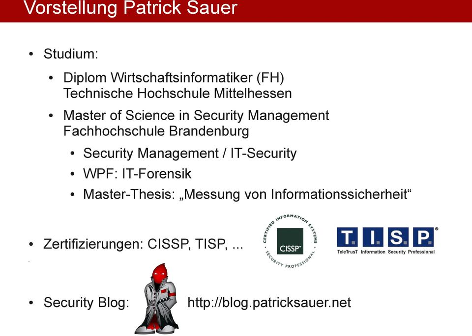 Brandenburg Security Management / IT-Security WPF: IT-Forensik Master-Thesis: Messung
