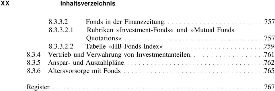 1 Rubriken»Investment-Fonds«und»Mutual Funds Quotations«757 8.3.3.2.