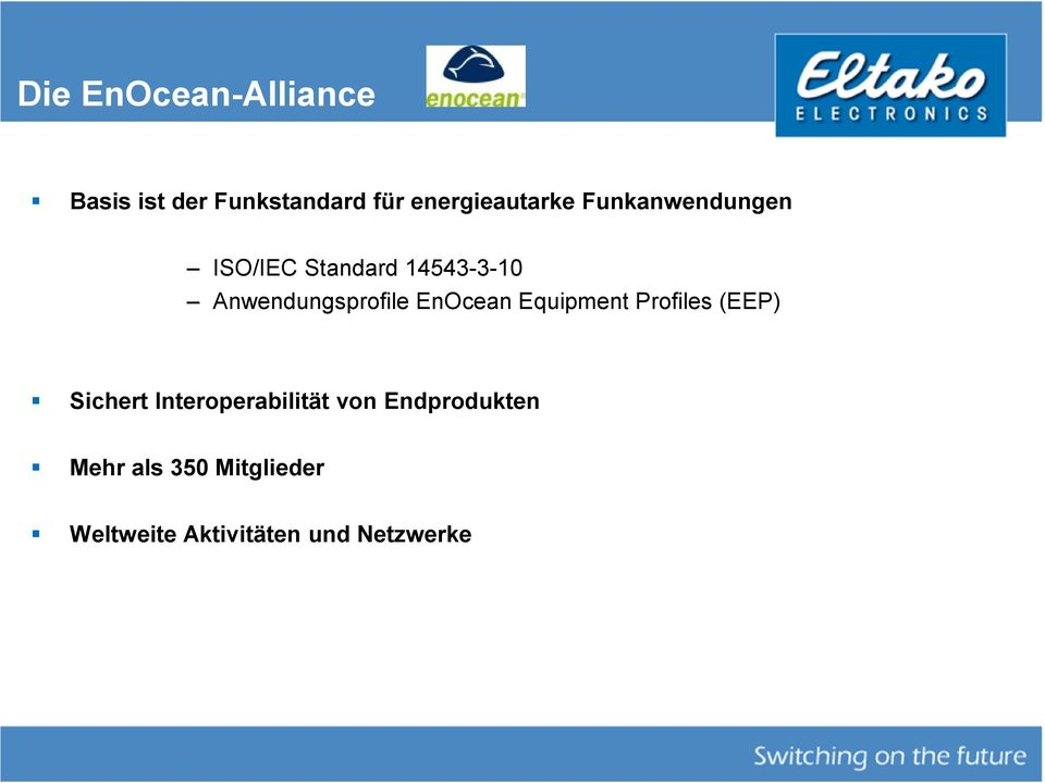 Anwendungsprofile EnOcean Equipment Profiles (EEP) Sichert