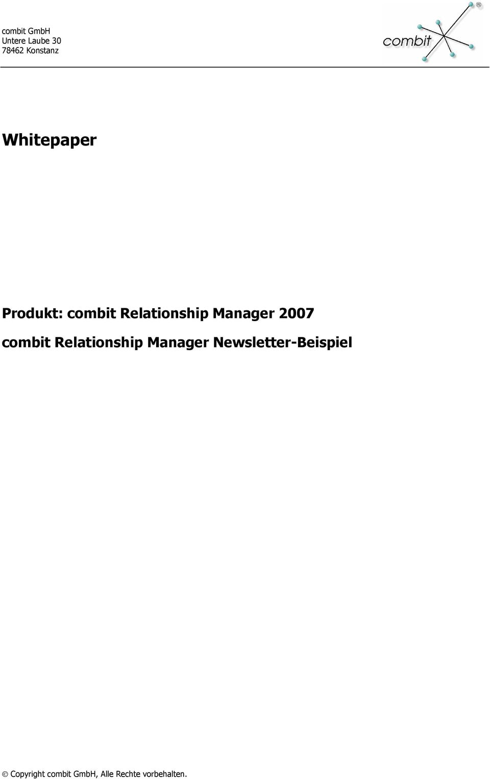 Relationship Manager 2007 combit