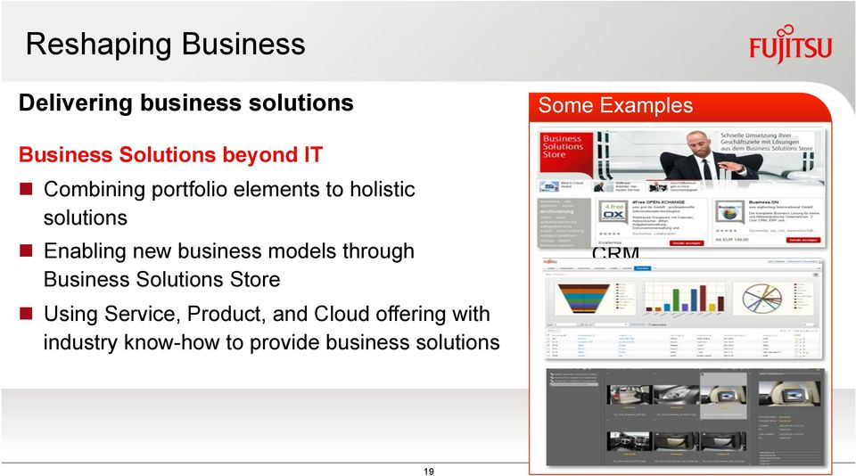 Solutions Store # Using Service, Product, and Cloud offering with industry know-how to