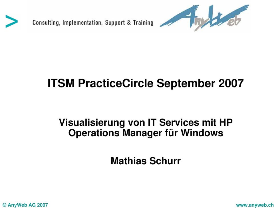HP Operations Manager für Windows