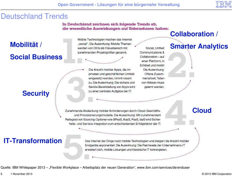 Security Cloud IT-Transformation Quelle: IBM Whitepaper 2013 Flexible