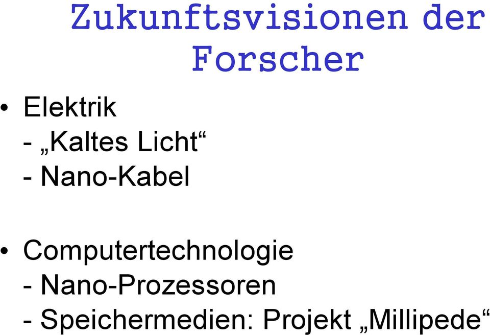 Computertechnologie -