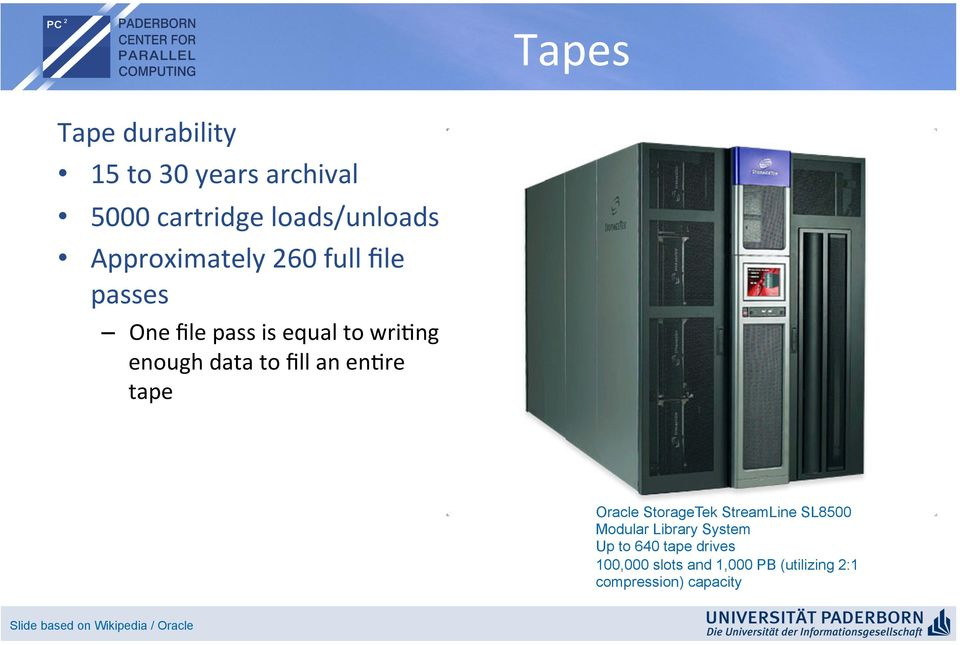 re tape Oracle StorageTek StreamLine SL8500 Modular Library System Up to 640 tape drives