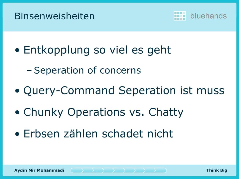 Query-Command Seperation ist muss