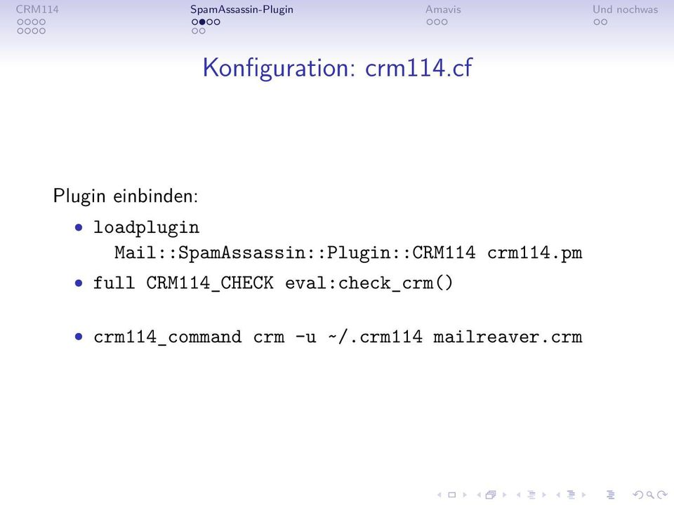 Mail::SpamAssassin::Plugin::CRM114 crm114.