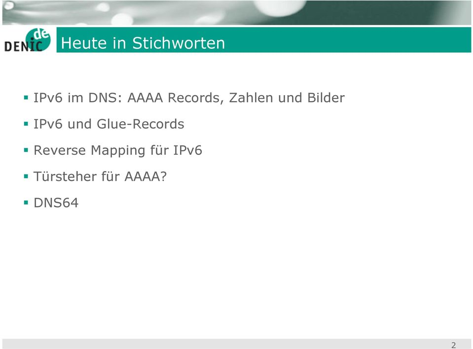 IPv6 und Glue-Records Reverse