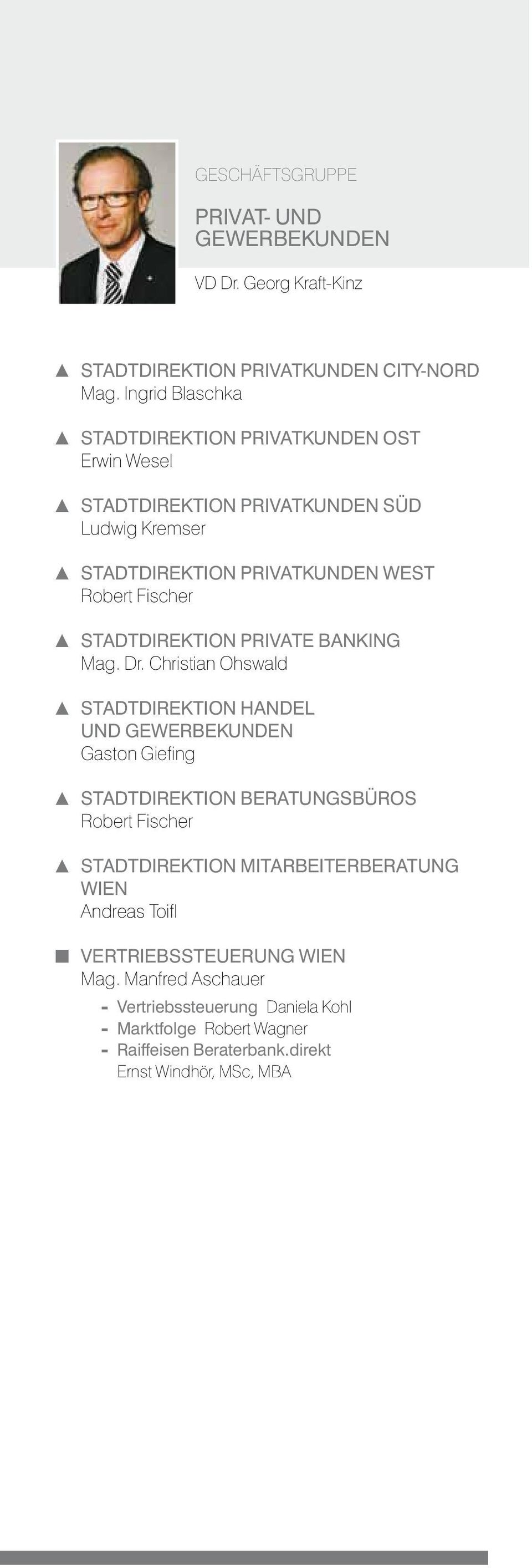 Stadtdirektion Private Banking Mag. Dr.