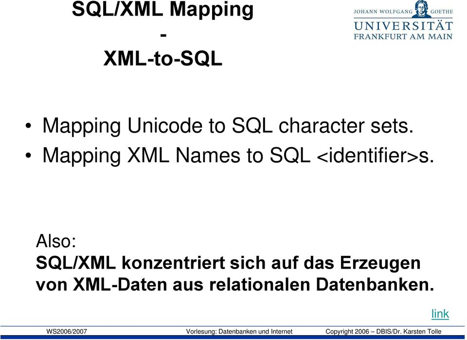 Mapping XML Names to SQL <identifier>s.