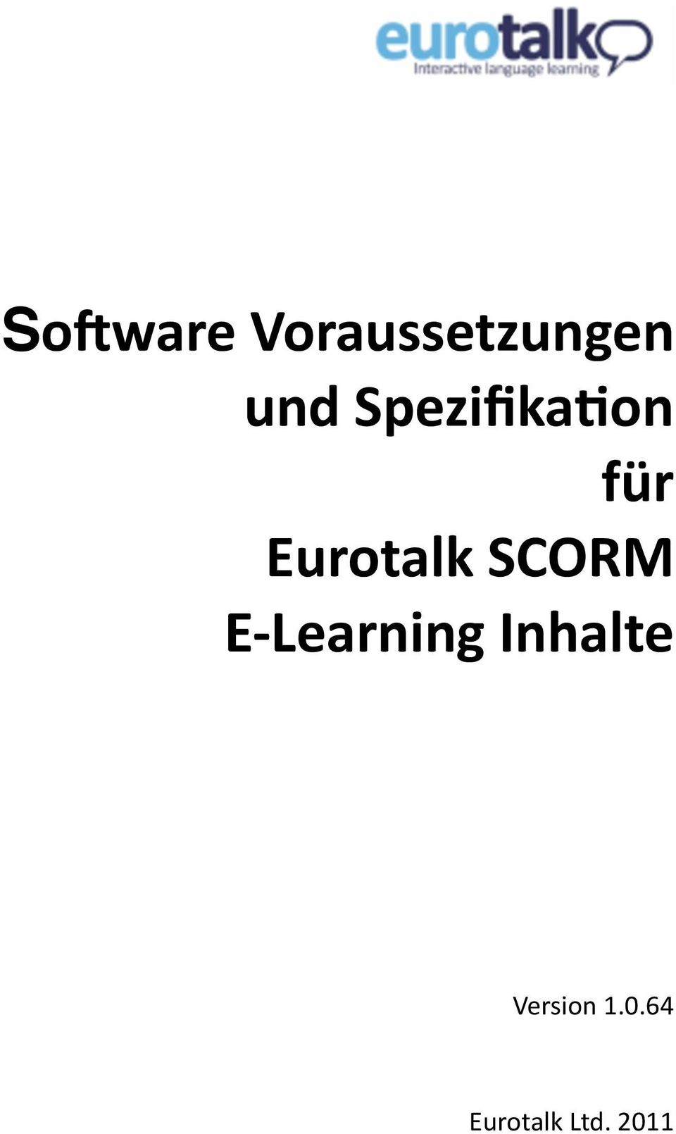 SCORM E Learning Inhalte
