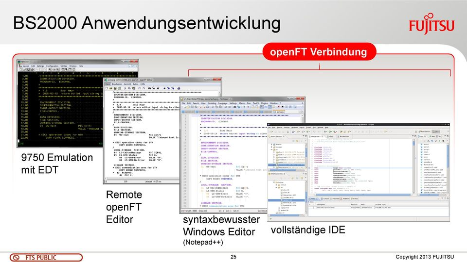 Remote openft Editor syntaxbewusster