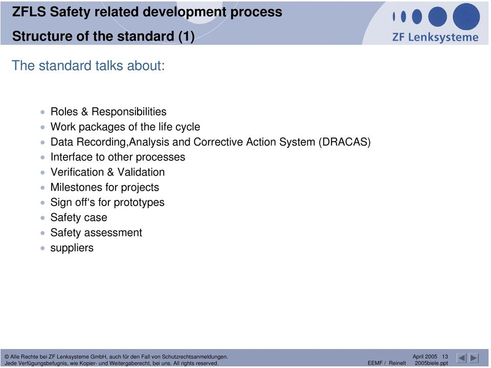 Recording,Analysis and Corrective Action System (DRACAS) Interface to other processes
