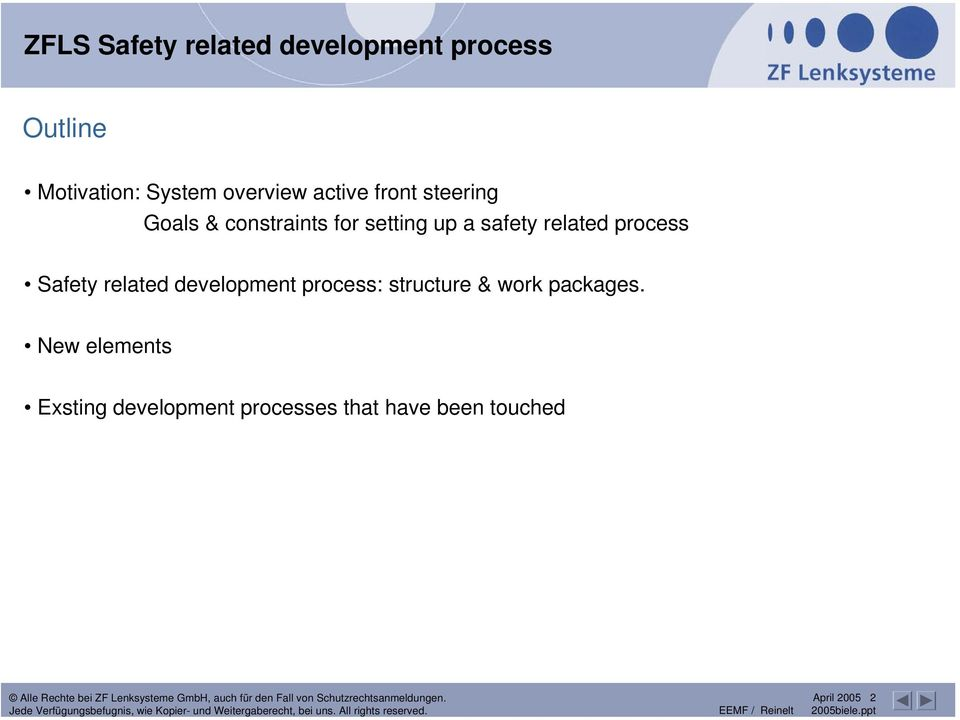 safety related process Safety related development process: structure &