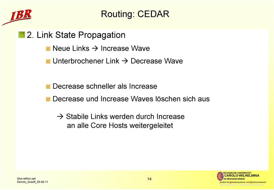 Link Decrease Wave Decrease schneller als Increase Decrease