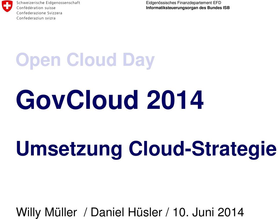 Cloud-Strategie Willy