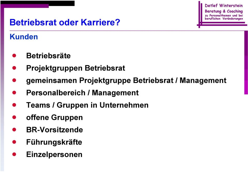 Personalbereich / Management Teams / Gruppen in