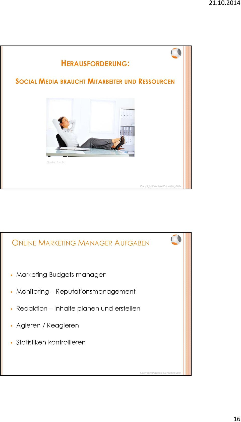 Budgets managen Monitoring Reputationsmanagement Redaktion